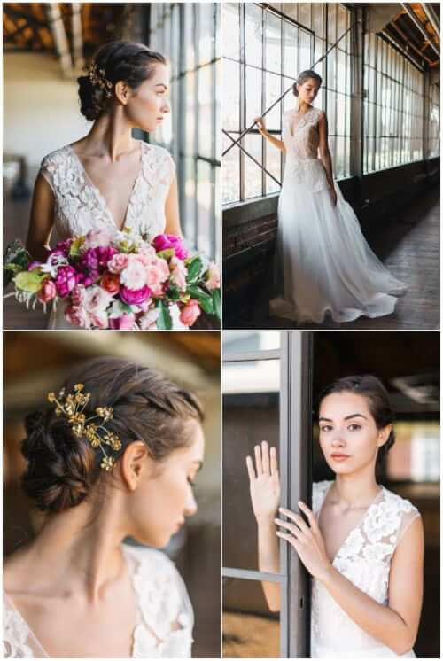 Fall Wedding Hair Ideas - Boho Updo