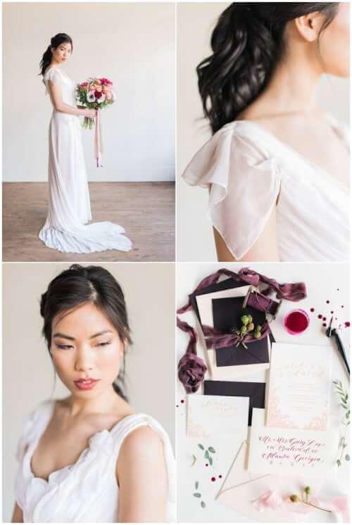 Fall Wedding Hairstyles - The Half Up Side Braid