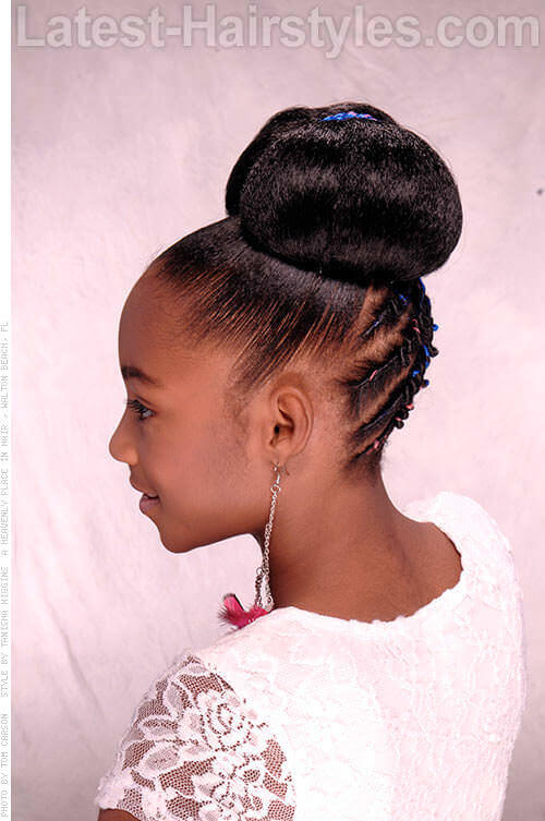 Bow-Tie Belle Black Girl Hairstyle 2