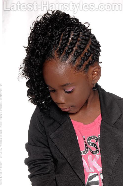 Corkscrew Twist Simple Black Hairstyles for School 1