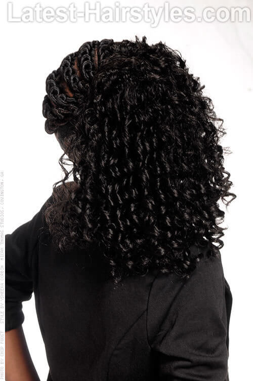 Corkscrew Twist Simple Black Hairstyles for School 2