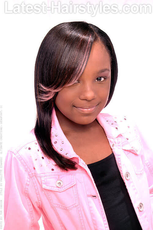 Pink Princess Simple Hairstyles for Black Girls