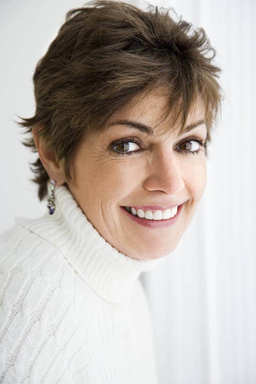 Short Hairstyle with Waves for Women Over 50