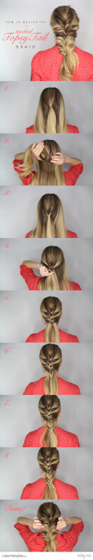 The Stacked Topsy Tail Braid Tutorial