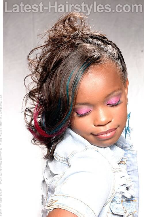 Twisted Flip Black Girls Hairstyles for School 1