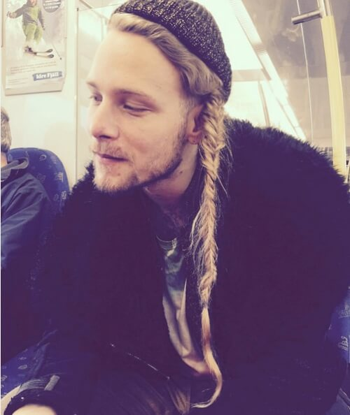 Man Braid with Beanie
