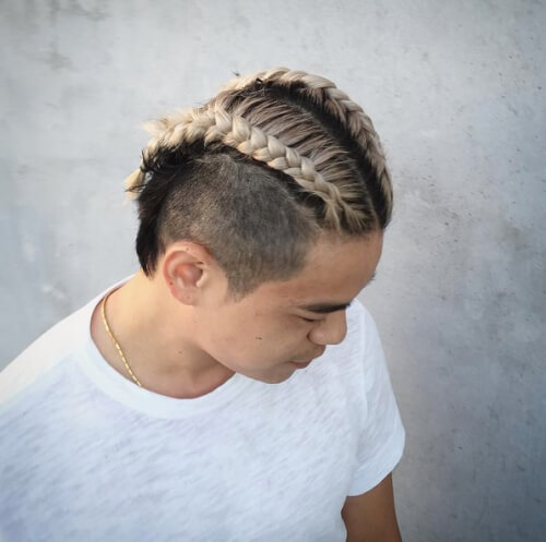 Thick Cornrows on Man