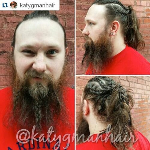 Braided Beard and Cornrows