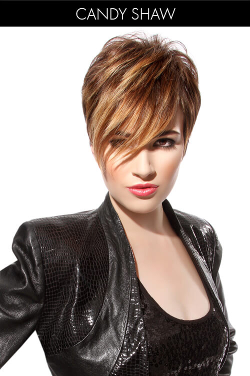 Short Winter Hairstyle with Bangs and Highlights