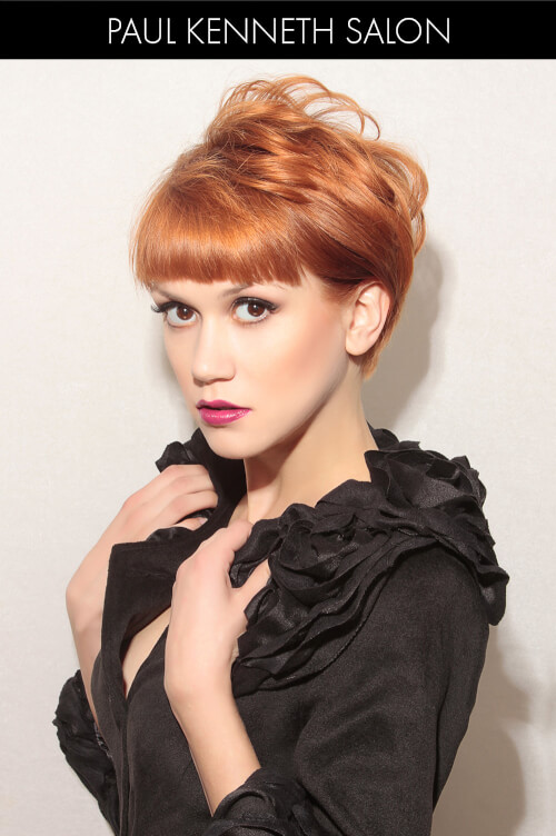 Short Winter Hairstyle with Blunt Fringe