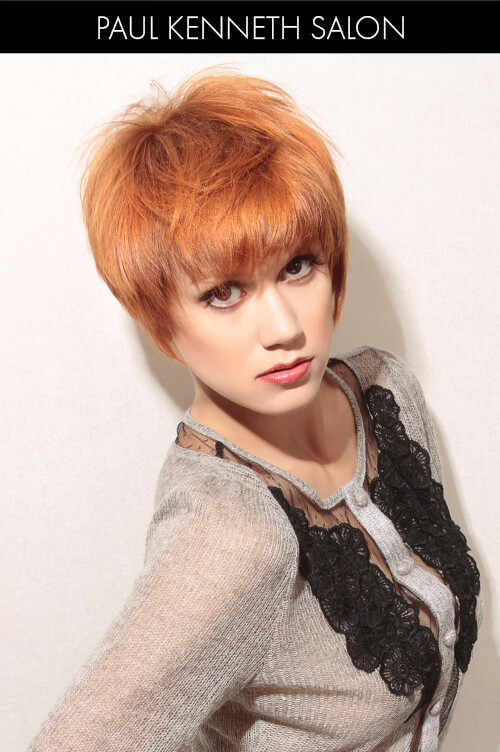 Bright Copper Hair Color for Winter