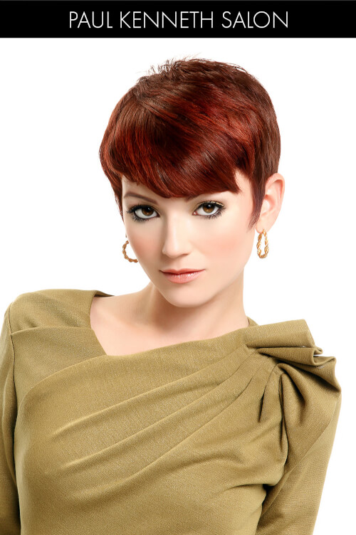 Pixie with Red Hair Color