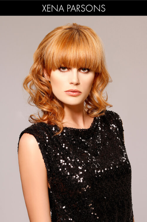 Golden Amber Hair Color for Winter