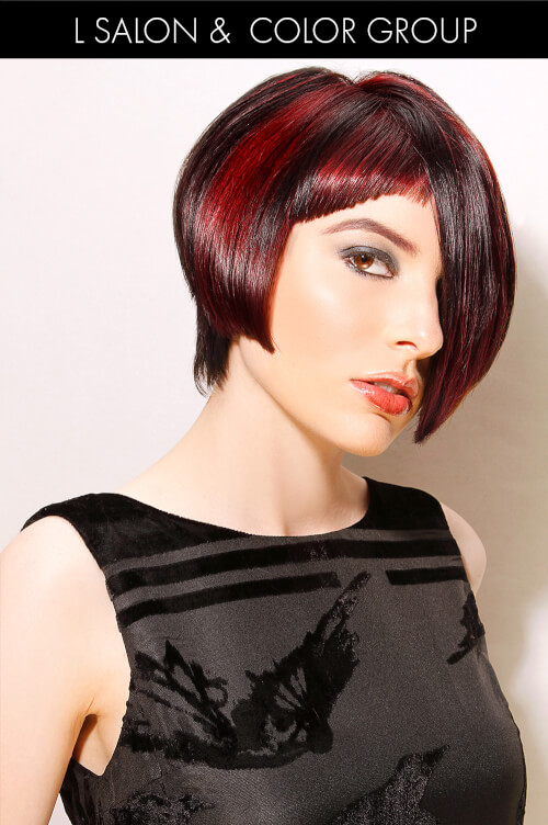 Cool Hair Color with Red Base
