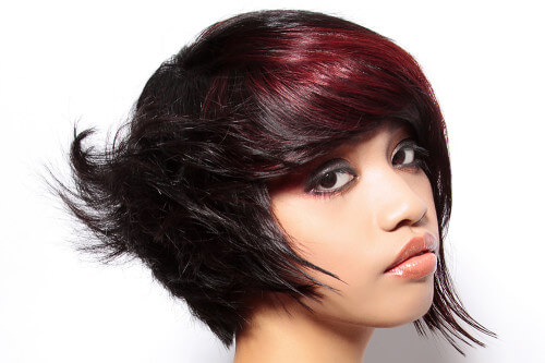 Cool Red Tone on Dark Hair
