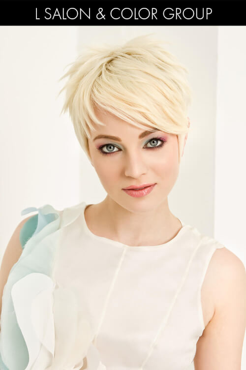 Pixie Hairstyle with Short and Long Fringe