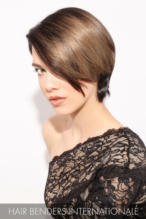 Dark Brown Hair Color with Natural Beige Highlights