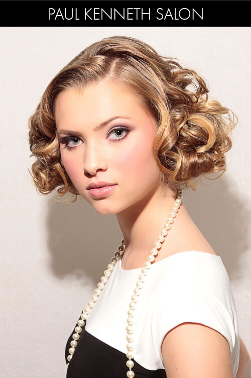 Traditional Blunt Bob with Soft Curls