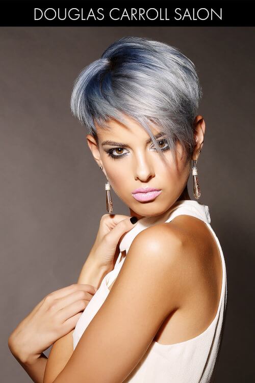 Trendy Blue Gray Summer Hair Colors
