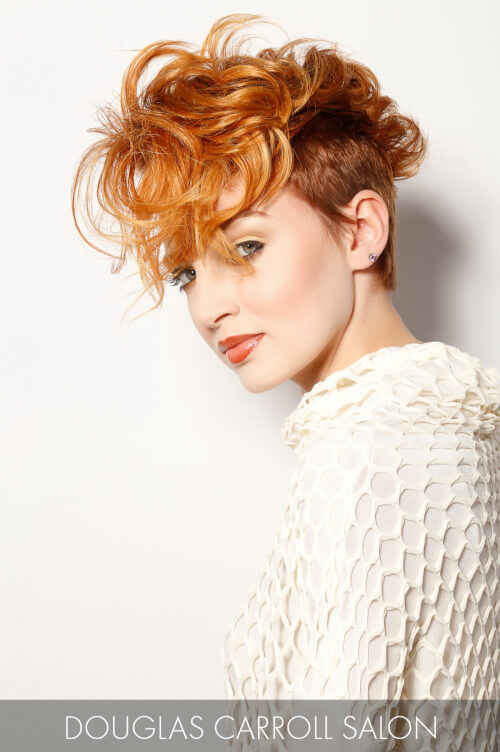 Soft Golden Copper Hair Color for Fall