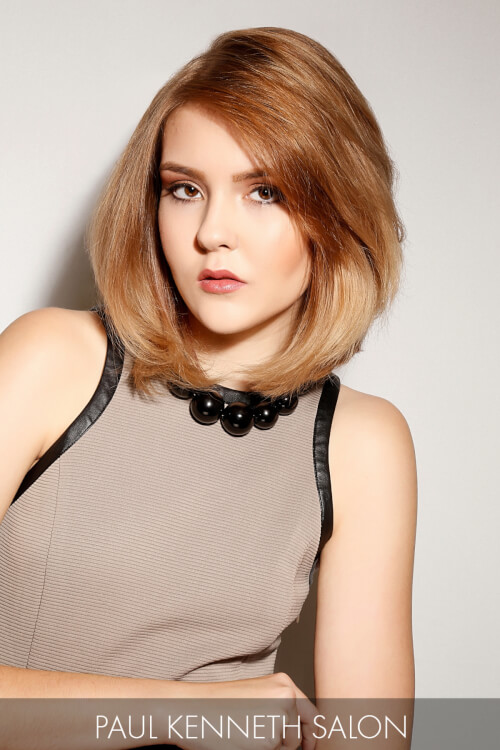 Long Bob Hairstyle with Blunt Ends