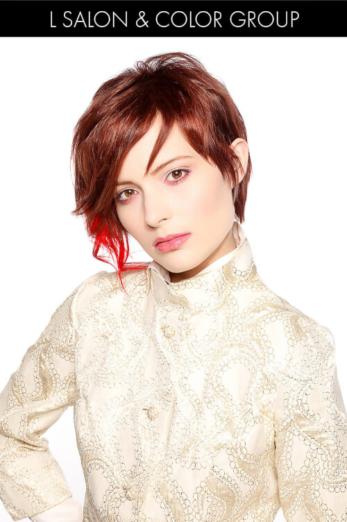 Hair Color for Spring with Pop of Red