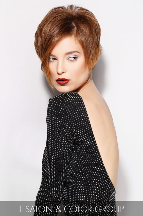 Elegant Asymmetrical Hairstyle for Fall