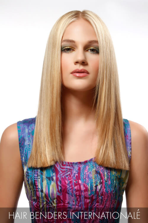 Bright Blonde Hair Color with Soft Lowlights