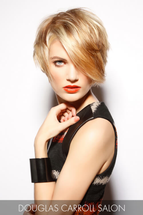 Asymmetric Short Hairstyle with Long Fringe