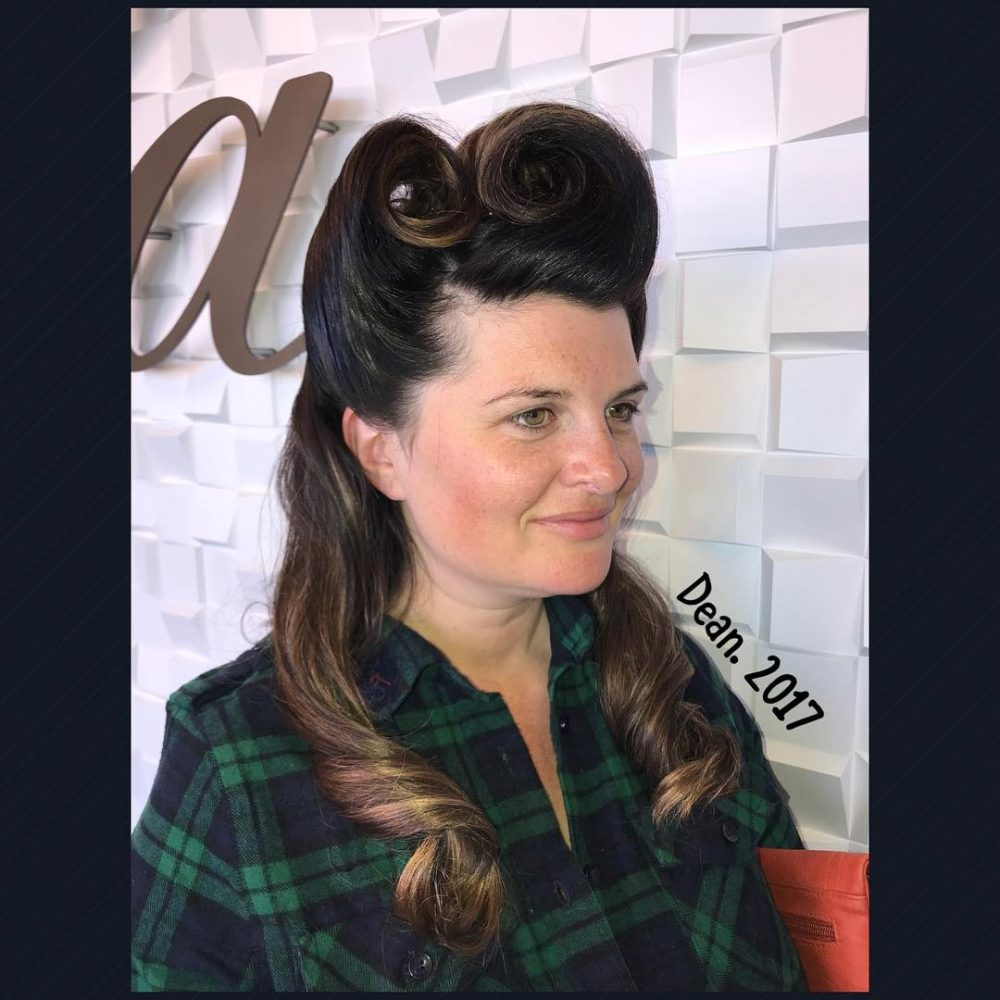 40s-Inspired Victory Rolls hairstyle