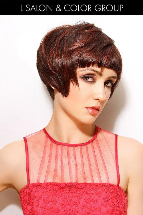 Dark Brown Hair with Mahogany Highlights
