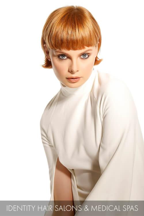 Retro Inspired Golden Blonde Hair Color
