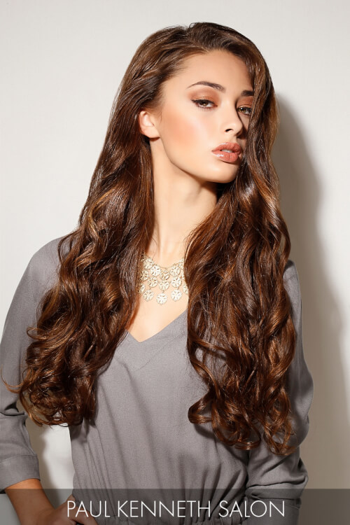 Long Winter Hairstyle with Loose Mermaid Waves