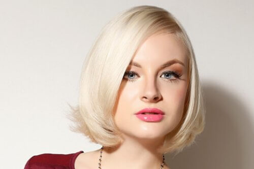 Bob Hairstyle in Platinum Blonde