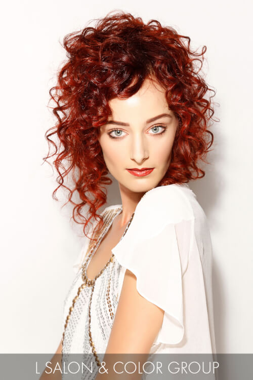Bold Red Hairstyle for Spring