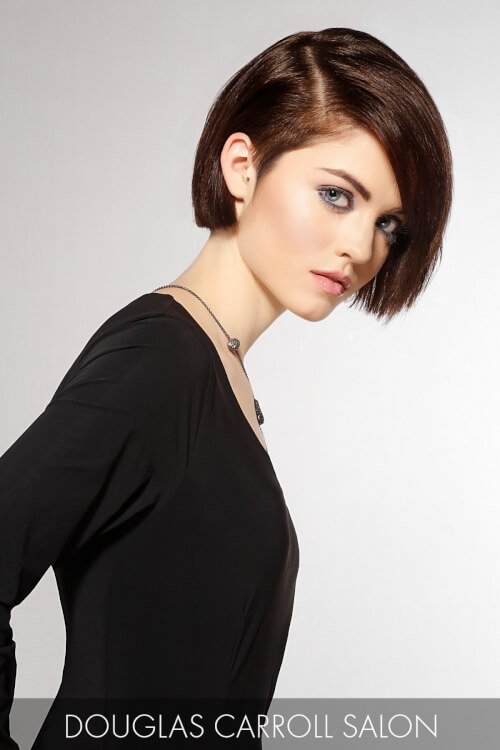 Bob Haircut with Heavy Side Part
