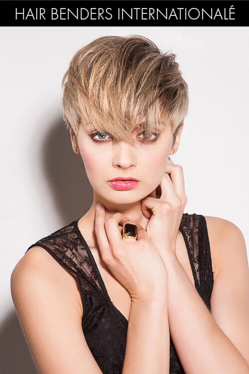 Blonde Pixie with Beachy Highlights