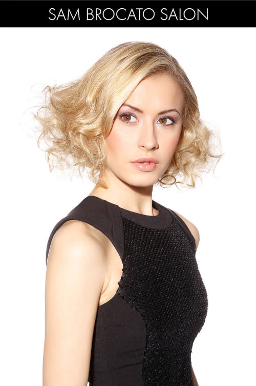 Short Bob for Spring with Ringlets