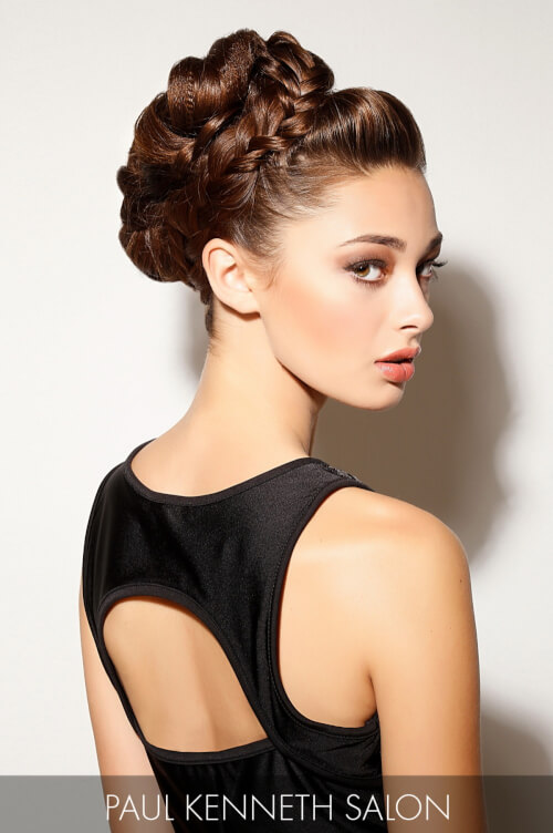 Updo with Braided Texture