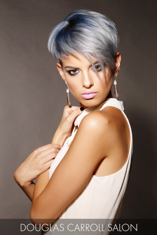 Steel Blue Hair Color for Winter