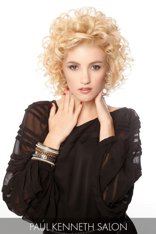 Short Hairstyle with Curls and Volume