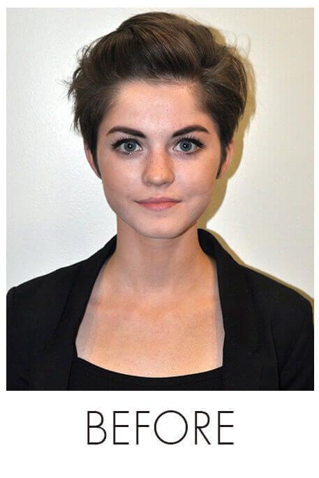 Short Hair Makeover - Before