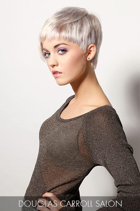 Short Hair Makeover - Platinum Pixie After