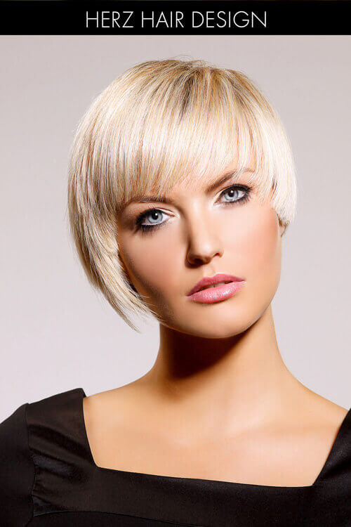 Asymmetric Bob Hairstyle for Thick Hair