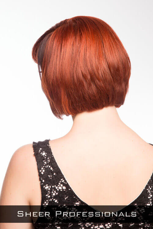 Asymmetrical Bob Hairstyle with Side Part Back