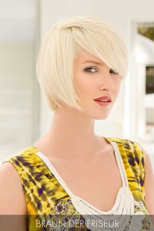 Short Haircut with deep side part