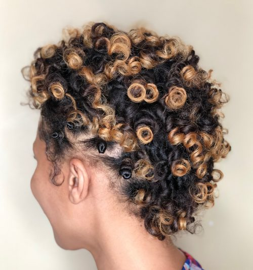 Bantu knots on dry hair