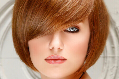 Bob Hairstyle For Round Faces With Side Swept Bangs Haircuts