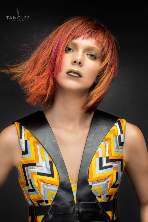 bob-hairstyle-with-bold-color-and-bangs