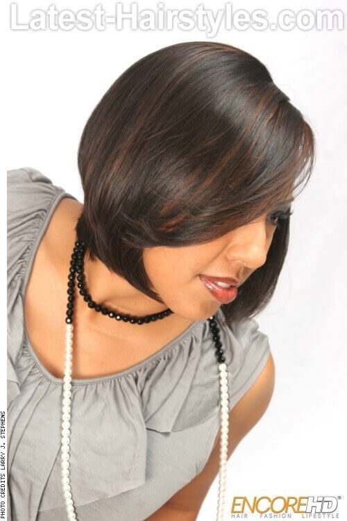 Bob Hairstyle with Long Layers Side